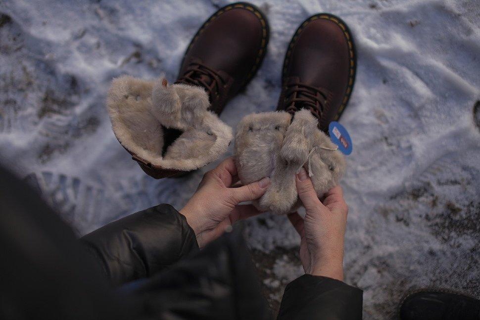 Ботинки женские Dr.Martens 1460 Kolbert Snowplow